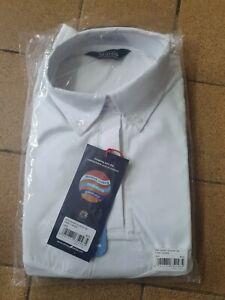 Aubrion short Sleeve Tie Show Shirt UK 14 16 large white
