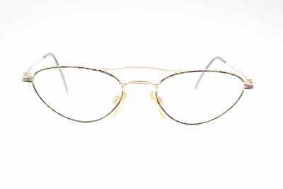 Aspirante Vintage Italian Design 3388 50 [] 17 140 Oro/colorato Ovale Occhiali Eyeglasses Nos- Chiaro E Distintivo
