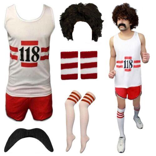 Homme Femme 118 118 Débardeur Shorts Fancy Dress Party Costume Marathon Stag Do Set