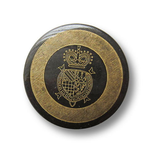 5 majestätische eisenfb 4157eg-23 Ösen Metallknöpfe mit goldenem Wappen Motiv