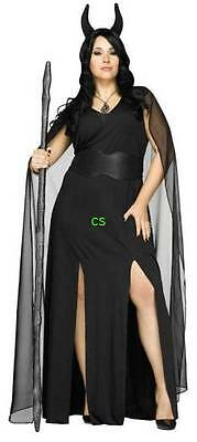 NWT-Womens Plus Keeper Of The Damned Black Devil Halloween Costume-size 1x & 2X