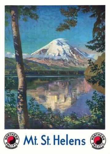 Mount Saint Helens Travel Poster A1//A2//A3//A4 TX260 Vintage 1920/'s Mt St