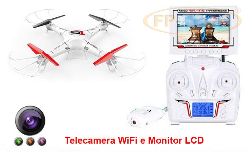 DRONE QUADRICOTTERO RADIOCOMANDATO CAMERA HD FP-X6DV PER RICAMBI ELICA MOTORE