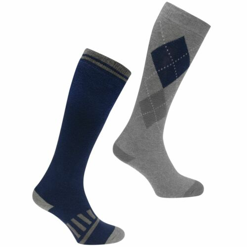 Requisite Womens 2 Pack Riding Socks Equestrian Pattern Warm