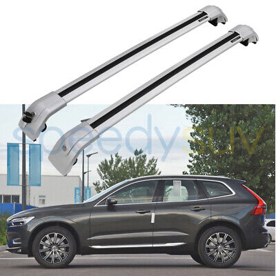 Lockable Cross Bar Crossbar for VOLVO XC60 XC 2013-2017 Roof Rack Rail Aluminum