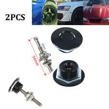 2 Pcs 32mm Push Button Quick Release Hood Bonnet Pins Lock Clip Car Bumper Latch