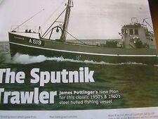 MODEL BOAT PLAN SPUTNICK TRAWLER FISHING BOAT MM2125  1:32  ALL ORIGINAL