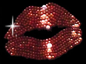 a5f79e9cd4a Image is loading Sparkly-Rhinestud-Rhinestone-Red-Lips-T-Shirt-PLUS-