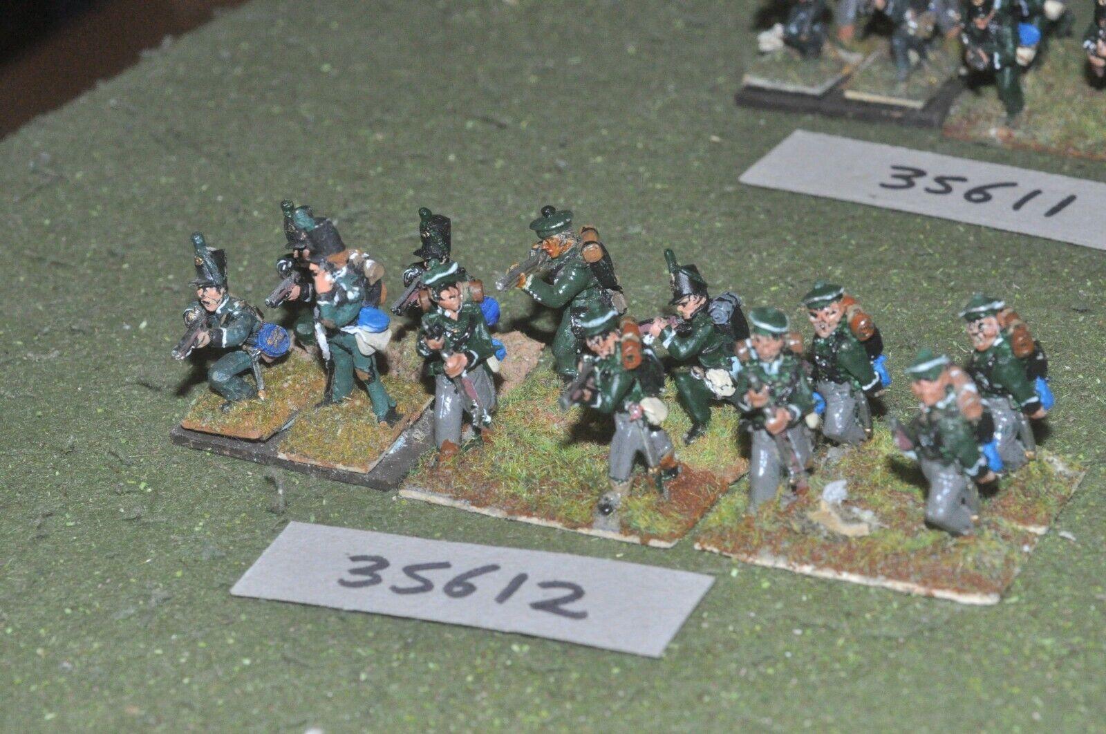 25mm napoleonic   british - riflemen 12 figures - inf (35612)