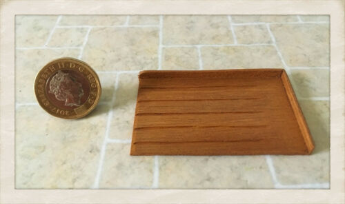 Dolls house Miniature 1//12 scale Wooden Draining or Bread Board  BJ Smetham