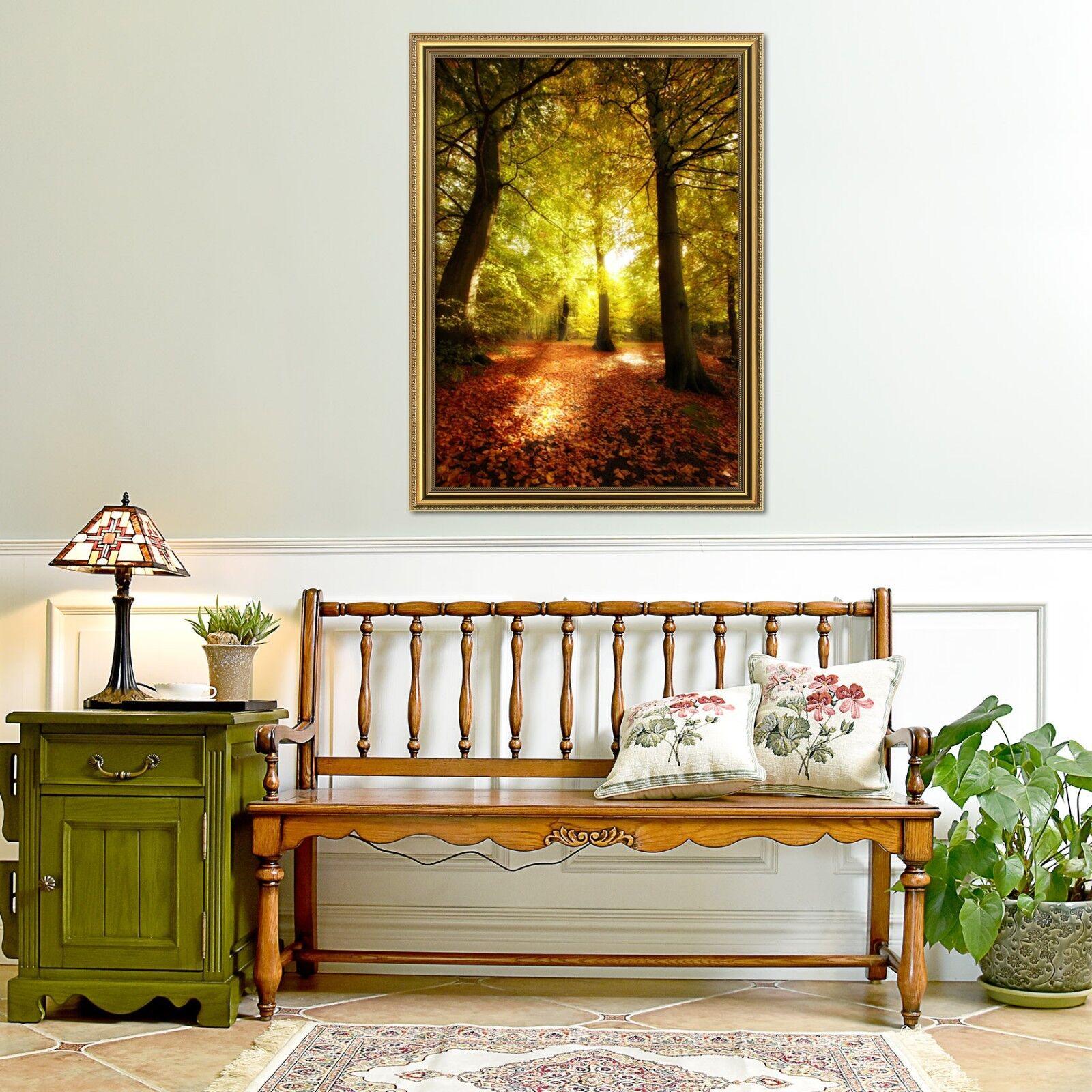 3D Dusk Forest Autumn 1 Framed Poster Home Decor Print Painting Art AJ WALLPAPER