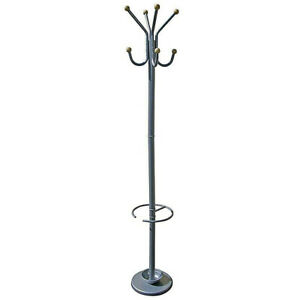Six-Foot-Silver-Coat-Rack-with-Umbrella-Holder