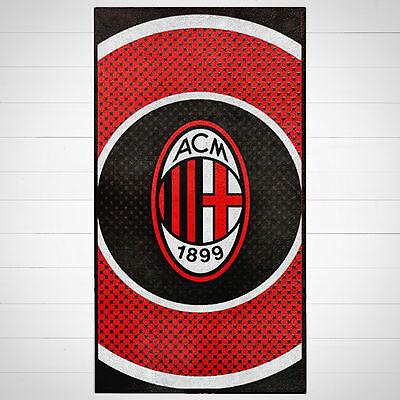 AC Milan FC Football Black Red White Kids Childrens Cotton Beach Bath Towel