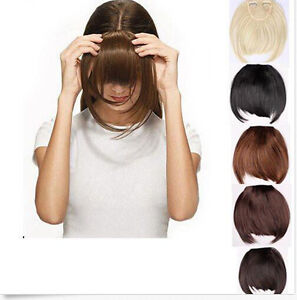 Behave-Premium-Clip-in-Fringe-Bangs-Hairpiece-Hair-Extensions-Brown-Blonde-AAA