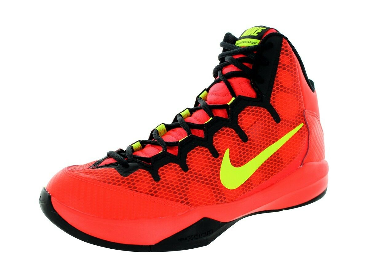 NIKE ZOOM WITHOUT A DOUBT HI BASKETBALL SNEAKER MEN SHOES 749432-600 SIZE 10 NEW