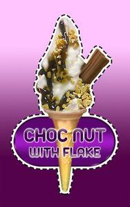 Ice Cream Van Autocollant Chocolat Écrou Unique Cône Avec Paillette #9-afficher Le Titre D'origine Snvofy9t-07232320-771144795