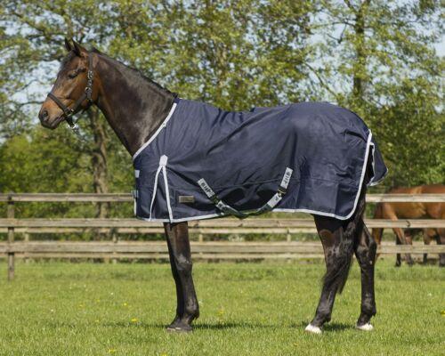 QHP Regendecke 600D m Fleece Füllung blau wasserdicht atmungsaktiv Gr.75-100 cm