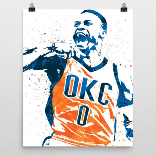 Russell Westbrook OKC Oklahoma City Poster FREE US SHIPPING