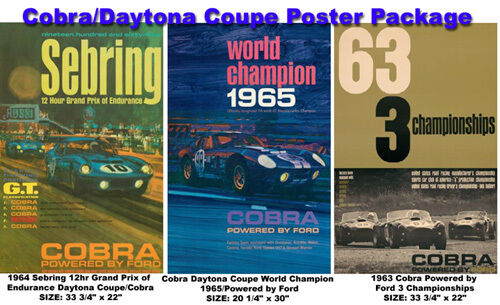 Cobra//Daytona Coupe Poster Package..First time offered on Car Poster!!!