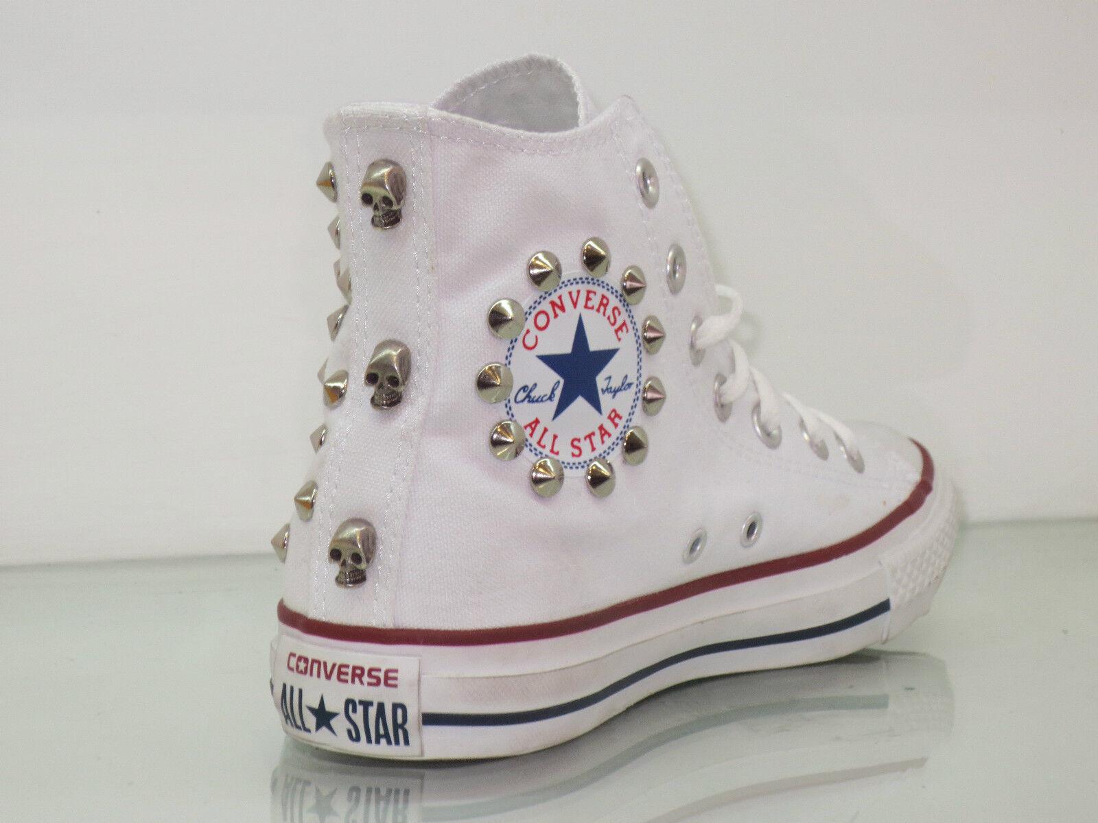Converse all star Hi borch-ie e tesch-i scarpe donna uomo Bianco artigianali