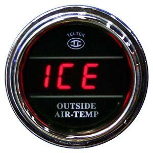 Universal Digital Outside Air Temp Gauge Blue LEDs Black Bezel Lifetime Warranty