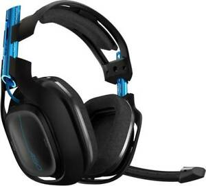 Gaming Headset  schnurlos Astro A50 Over Ear Schwarz/Blau