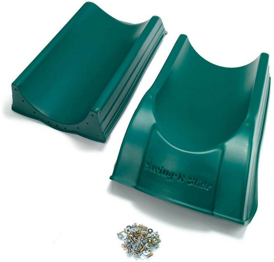 Slide Plastic UV Resistant Scoop Scoop Scoop Design Surface Mounted Green Finish (2-Piece) 91239e