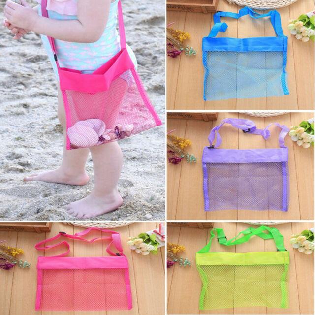 Beach Mesh Bag Pouch Kid/'s Children Fun Toys Sea Shell Storage Bag Beach Fun Bag
