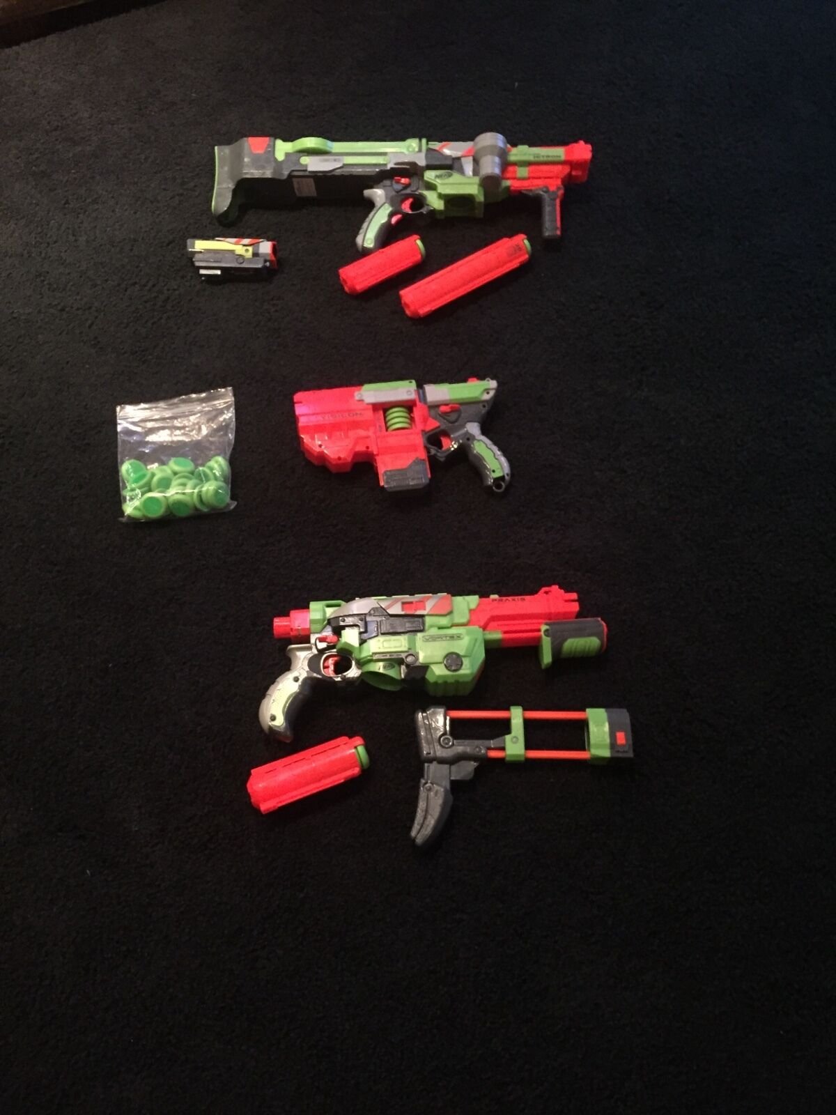 3 3 3 nerf vortex series with clips and darts b97a78
