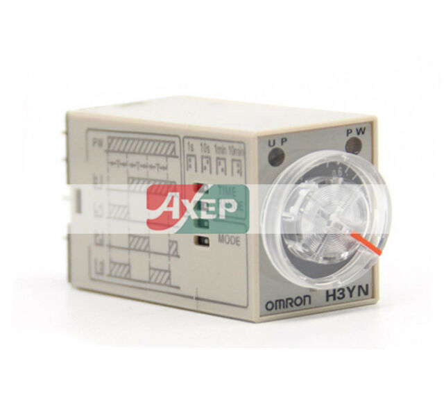 A● Omron H3YN-2 Time Relay 24VDC 1S 10S 1M 10M New