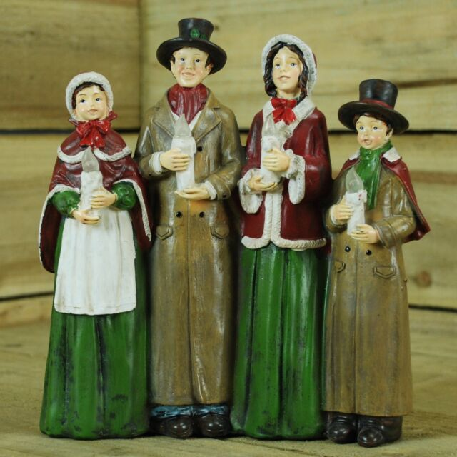 Christmas Carol Singers Ornaments.Premier Carol Singers Ornament 25 Cm Christmas Decorations