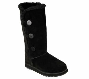 lowest price special section top-rated latest Details about Skechers Keepsakes Winter Solstice Boots Womens Memory Foam  Tall Mid Calf Suede