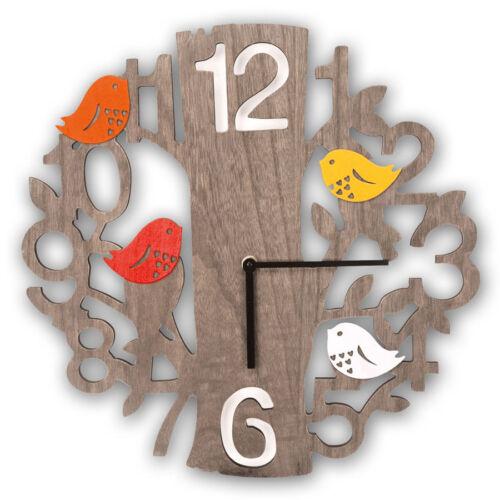 40 cm Holzuhr analoge Wand Uhr Odette Holz Wanduhr ca