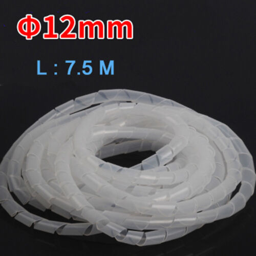 4mm 25mm Spiral Cable Wrap Organising Wire Management PC TV Office Home