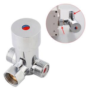 Induktion-Wasserhahn-Mischventil-Kalt-Heisswasser-Thermostat-Wassermischer-Ventil
