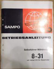 IHC selbstfahrer Mähdrescher 8 - 31 mit Valmet 310 BL Motor Betriebsanleitung