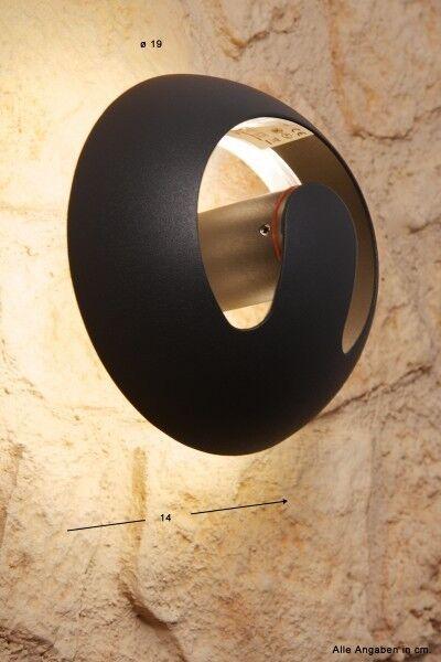 Design parojo lámpara luz aussenlampe jardín lámpara LED lámpara de aluminio lámpara