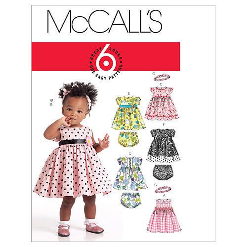 6-24 months McCall/'s 5791 Toddler Dress Pants Headband Sewing Pattern S-XL