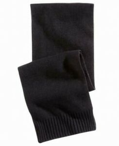 Alfani Mens Accessories Classic Black One Size Ribbed Knitted Scarf $40 #063