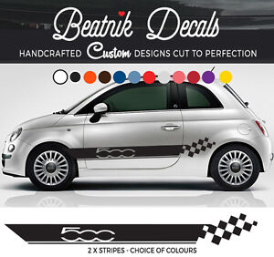 Image Is Loading Fiat 500 Decals Side Stripe Sticker Abarth Racing