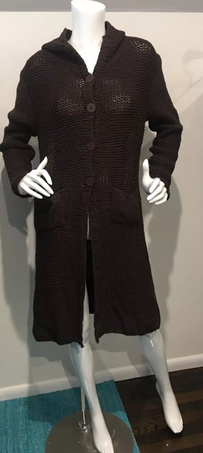 New With Tags Max Studio Brown Long Sweater Petite Large