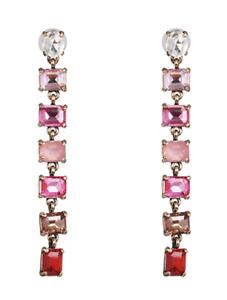Pendientes de cristal pendientes de declaración de gradiente-Rosa para Mujer Moda UK