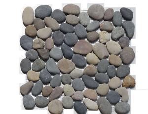 Flusskiesel Fliesen 1 netz flusskiesel bunt rund mosaik fliesen naturstein glas granit