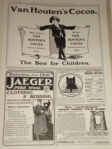 Advert Tobacco amp;c Jaeger Van Cocoa Houten's amp; 1903 Bedding Clothing Craven 6dzq6