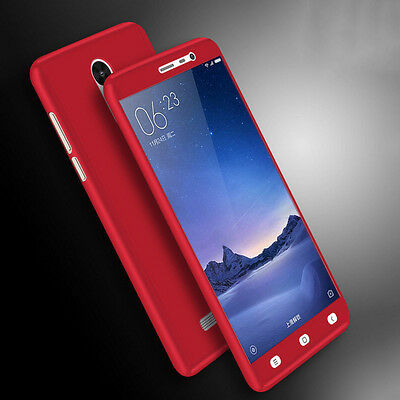 Hybrid 360° Shockproof Slim case + Tempered Glass For Xiaomi Mi6 5S Plus Redmi 4