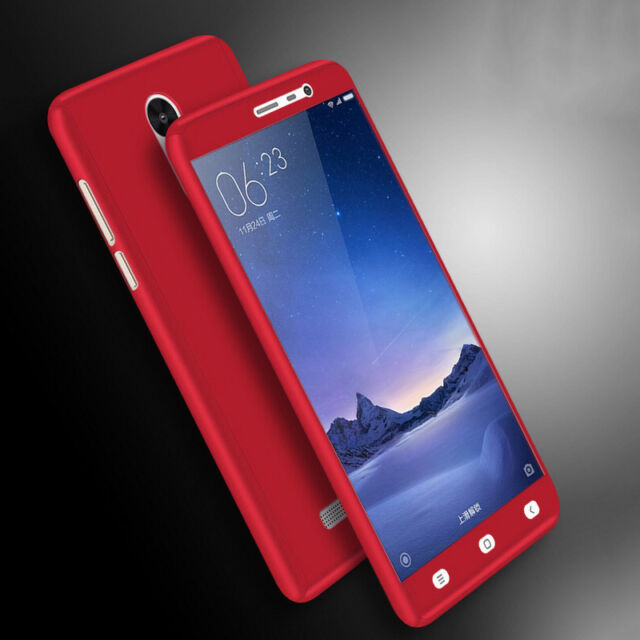Hot Hybrid 360° Shockproof Slim Hard case + Tempered Glass for Xiaomi Phones