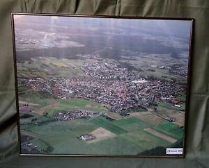Grosses-60x51-cm-Urberach-1994-mit-Rahmen-Hessen-Luftbild-Roedermark