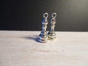 2 Maison De Poupées Miniature Métal Ornements Ll-afficher Le Titre D'origine Vente Chaude 50-70% De RéDuction