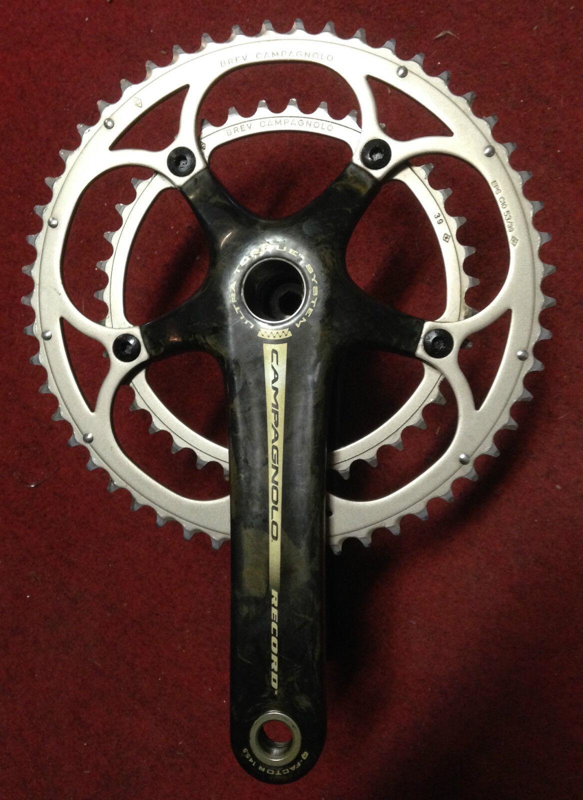 Pédalier Campagnolo Record carbone bicicleta crankset 170 39-53 10 s