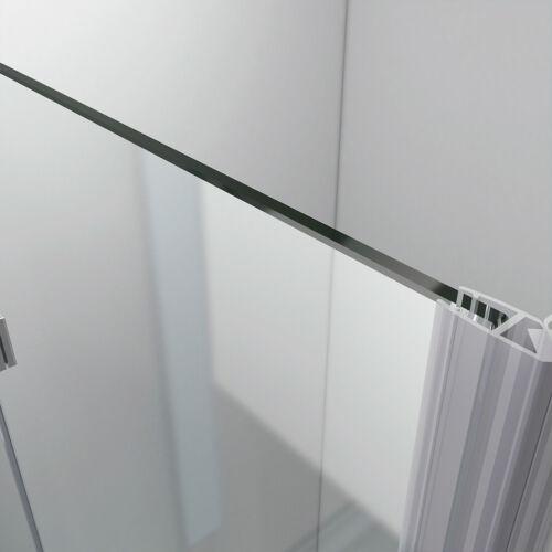 Duschkabine Dusche 180° Falttür Duschabtrennung ESG Glas 90x90 80x100 120x120